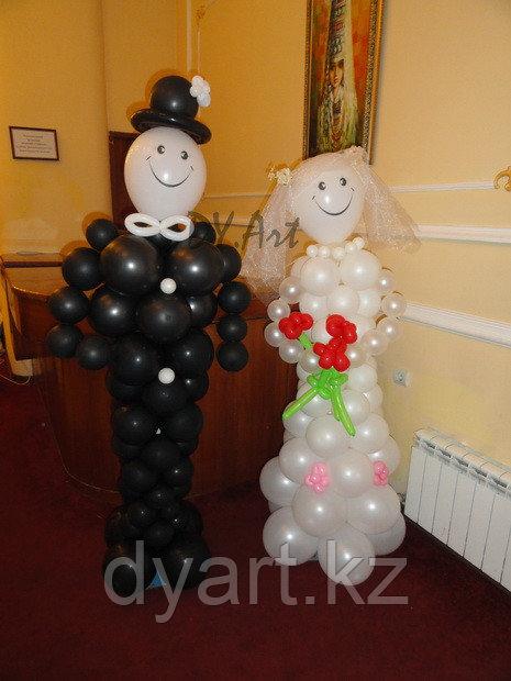 Фигуры из шаров Жених и невеста