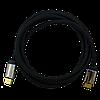 Кабель HDMI - HDMI MPINS DonScorpio F380+HD,2m, v1.4, 11,2Gbps, 24K gold, черный, оплетка