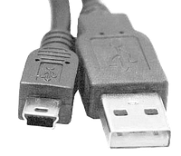 Кабель USB 2.0 тип A male - Мini USB тип В  для HDD,  0.7м, USB2.0 , серый., фото 1
