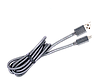 Кабель MICRO USB-USB 2.0 (усил оплетка),1.0м, в металлической  оплетке,  напыление, серый.