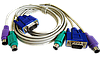 KVM-кабель  2VGA+2PS/2 (мышь и клавиат.) 1.3m