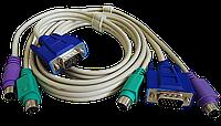 KVM-кабель  2VGA+2PS/2 (мышь и клавиат.) 1.3m, фото 1