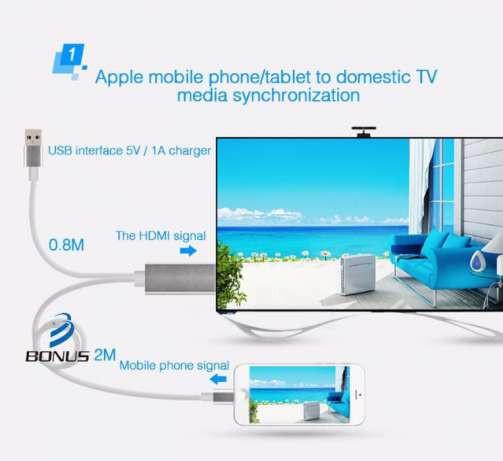 Адаптер HDTV MHL  для iPhone5/5s/6/6s