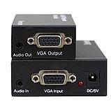 Усилитель сигнала VGA+audio кабелем CAT5/6 до 300м EXTENDER, фото 3