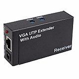 Усилитель сигнала VGA+audio кабелем CAT5/6 до 300м EXTENDER, фото 4