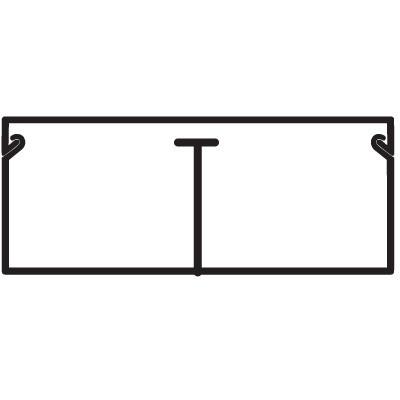 TMC 40/2x17 Миниканал с перегородкой белый (розница 8 м в пакете, 10 пакетов в коробке)