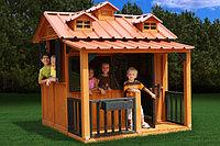 Деревянный домик «Гномик», с крышей, сидениями, фото 1