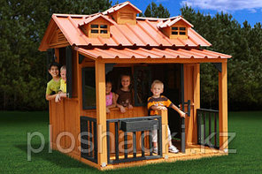 Деревянный домик «Гномик», с крышей, сидениями