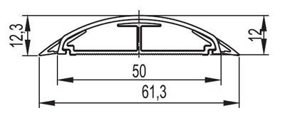 Напольный канал 50х12 мм CSP-F, белый