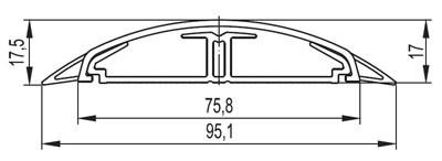 Напольный канал 75х17 мм CSP-F, белый