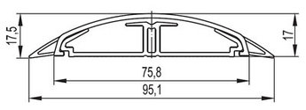 Напольный канал 75х17 мм CSP-F, черный