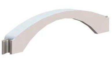 Адаптер напольного канала 50х12 мм, белый