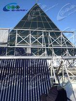 Дом Правительства РК, установка солнечных водонагревателей 10