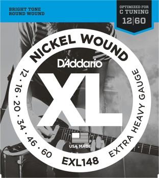 Струны для электро гитары D'Addario Nickel EXL148 (12-60)