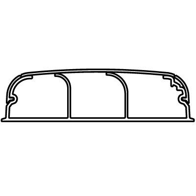Кабель-канал плинтусного типа 90х25 мм, трехсекционный, с крышкой