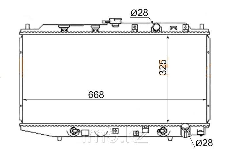 Радиатор HONDA CIVIC EF# 88-92
