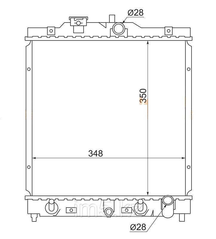 Радиатор HONDA CIVIC EG# 92-95 3/4D