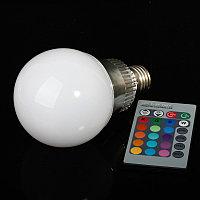 Светодиодная многоцветная лампа 5 W E27, фото 1