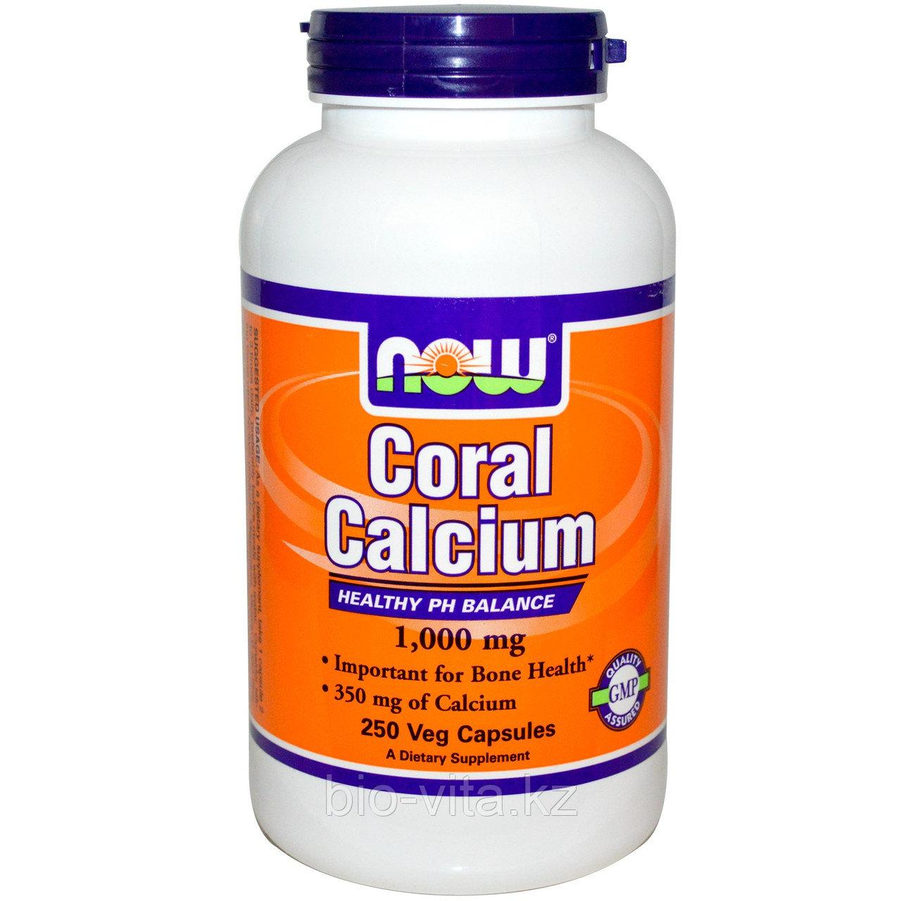 Коралловый кальций, 1 000 мг, 250 капсул. Now Foods