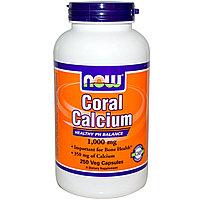 Коралловый кальций, 1 000 мг, 250 капсул. Now Foods, фото 1