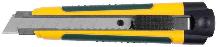 """Нож KRAFTOOL """"EXPERT"""" с сегментированным лезвием, двухкомп корпус, автостоп, отсек для хранения запасных лезви"""