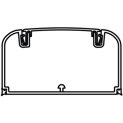 Кабель-канал 90х50 мм, с фронтальной крышкой