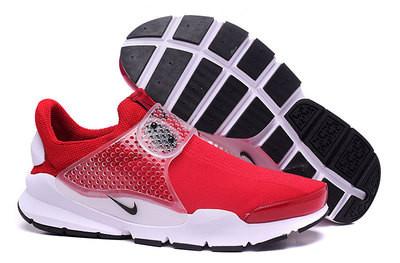 Летние кроссовки Nike Sock Dart бело-красные ( 36-44 )