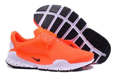 Летние кроссовки Nike Sock Dart оранжевые ( 36-44 )
