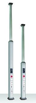 Телескопическая алюминиевая колонна, 2.7 - 4.2м, цвет темно-серебристый