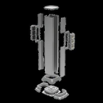 Алюминиевая колонна 0,71 м, цвет черный