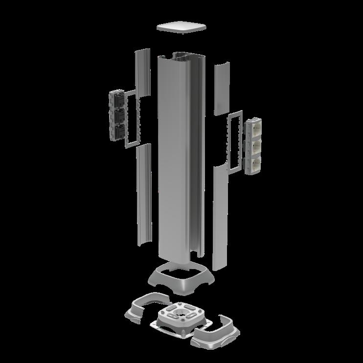 Алюминиевая колонна 0,71 м, цвет белый