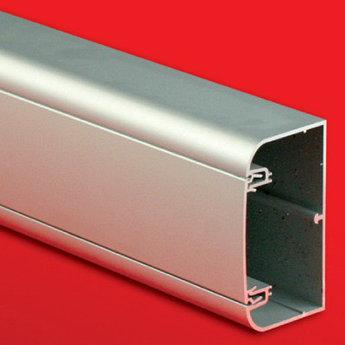 Алюминиевый кабель-канал 90х50 мм (с 1 крышкой), цвет серебристый