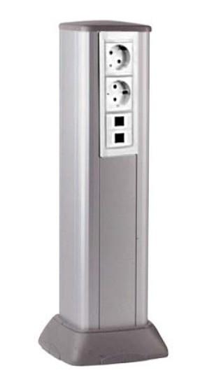 Алюминиевая колонна 0,5 м, цвет светло-серебристый металлик