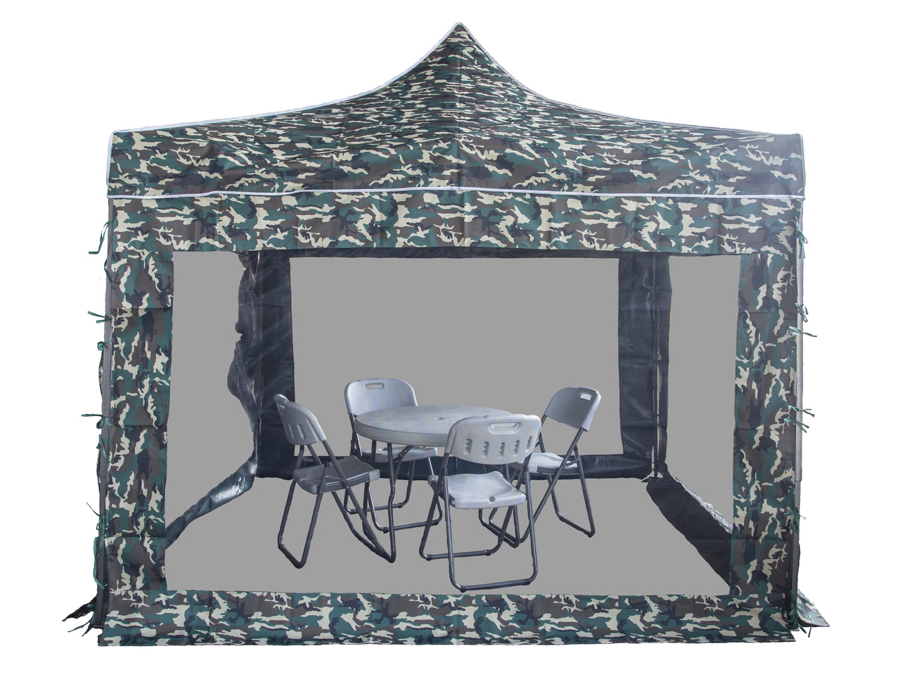Беседка - шатер с маскитной сеткой (3х3м), хаки