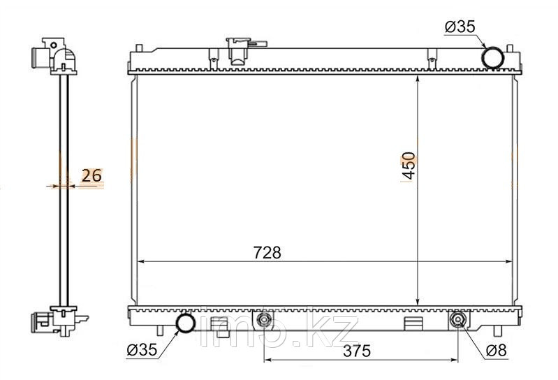 Радиатор INFINITI M35/M45 06-10