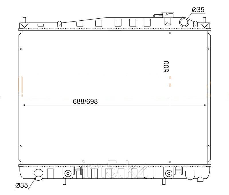 Радиатор INFINITI QX4 #R50 97-04(дизель)