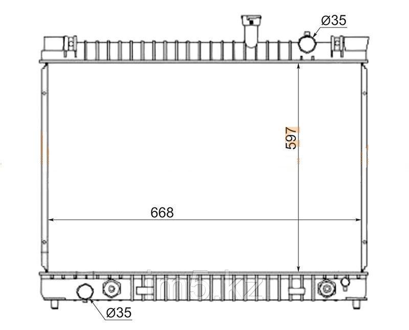 Радиатор  INFINITI QX56 JA60 04-10