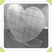 Планшетка для бижутерии под серьги в виде сердца