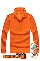 Лонгслив поло, оранжевый, фото 1