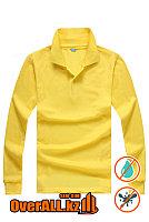 Лонгслив поло, желтый, фото 1