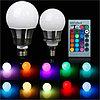 Светодиодная многоцветная лампа 10W E27 220V