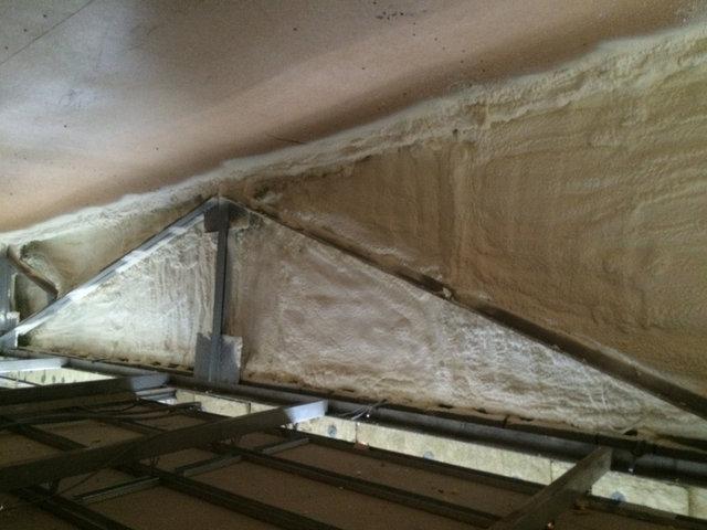 Утепление фронтона из плит OSB с внутренней стороны.