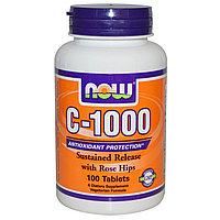 Витамин С c шиповником с замедленным высвобождением. Now Foods, C-1000, 100 таблеток.
