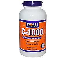Витамин С Now Foods, C-1000, 250 капсул.