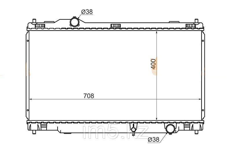 Радиатор LEXUS GS300/350/430/460/450H 05-12