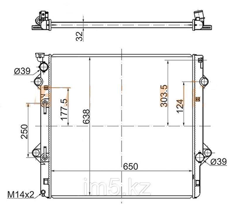 Радиатор LEXUS GX460 10-