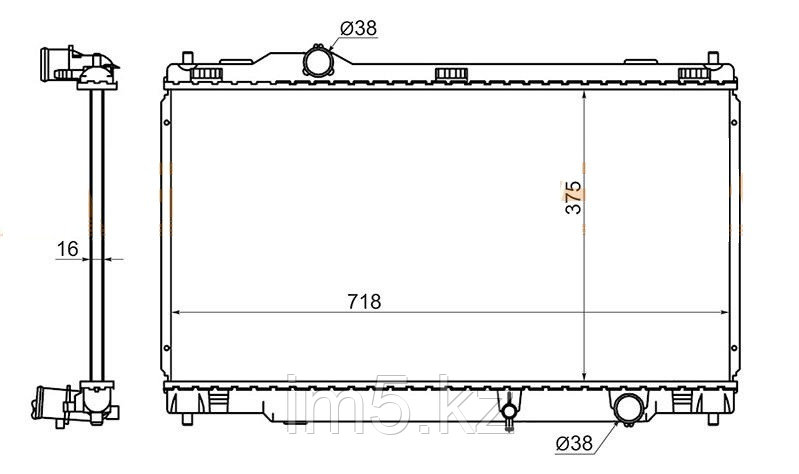 Радиатор  LEXUS IS250/350 05-13