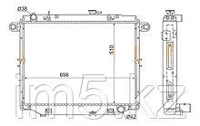 Радиатор LEXUS LX470 98-07