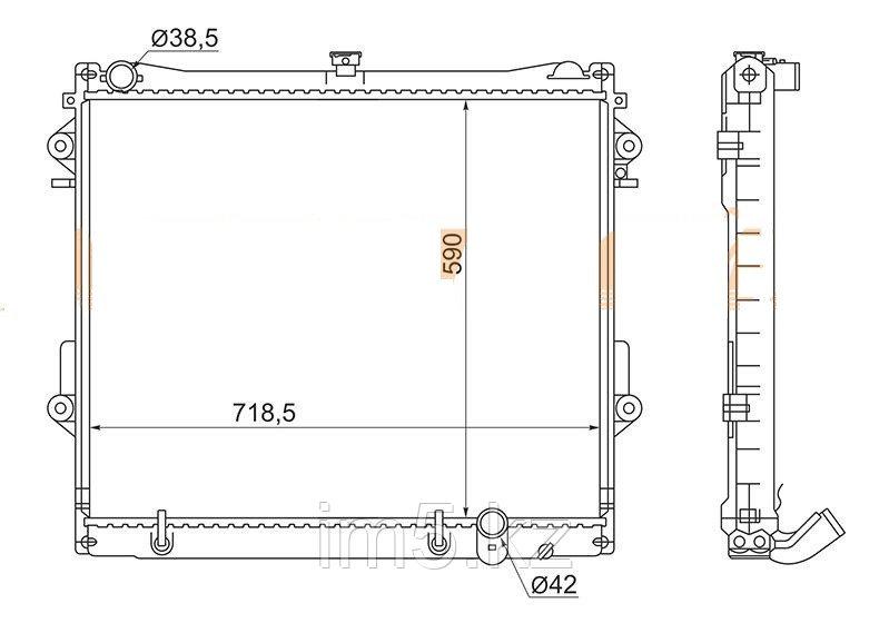 Радиатор LEXUS LX570 07-15