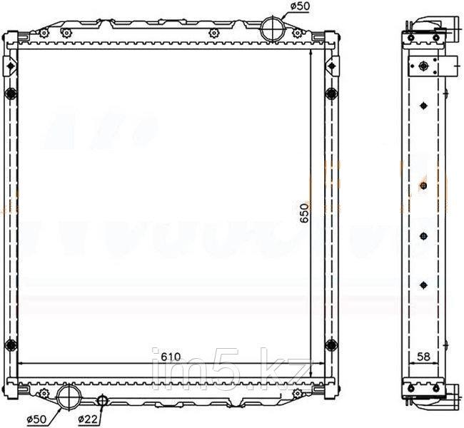 Радиатор MAN L2000 93-97